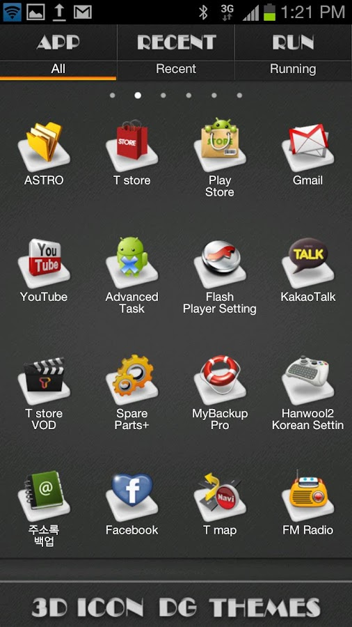 3d icon go launcher theme android apps on google play. Black Bedroom Furniture Sets. Home Design Ideas