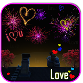Love Fireworks Live Wallpaper