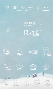 Falling snow dodol theme - screenshot thumbnail