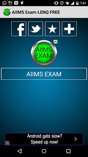 AIIMS Exam-LENQ FREE