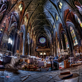 Abandoned Catholic Church circa 1894 by Dawn Robinson - Buildings & Architecture Decaying & Abandoned ( urban exploration, urbex, beauty in decay, urban decay, abandon all hope, architectural detail, historical, architecture, urban atrophy, architectural history, abandoned church, abandoned,  )