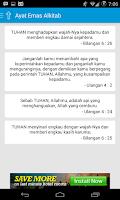 Screenshot of Ayat Emas Alkitab