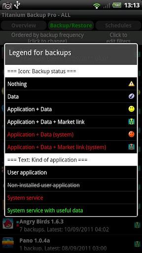 Titanium Backup u2605 root needed  screenshots 3
