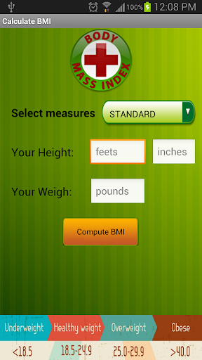 Calculate body mass index BMI