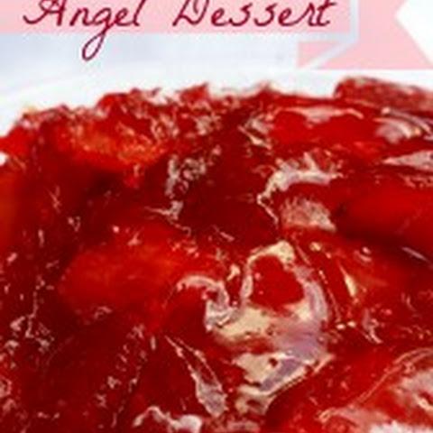 Strawberry Gelatin Angel Food Cake