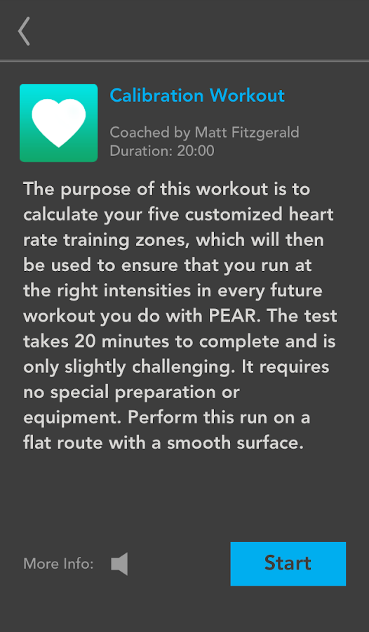 PEAR workout coach for running - screenshot