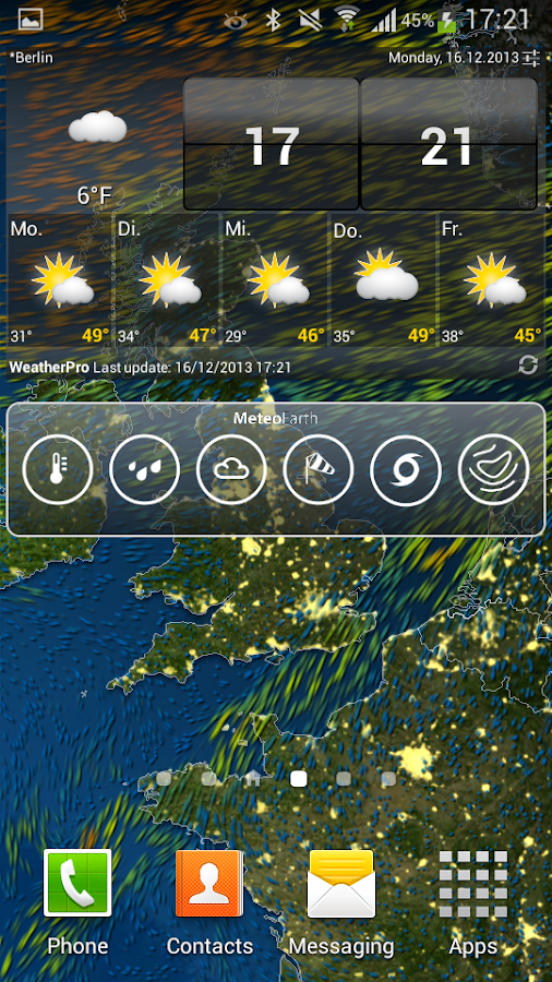 MeteoEarth - screenshot