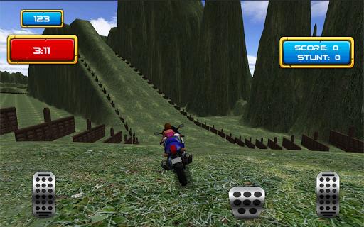 高速道路のオートバイゲーム3D