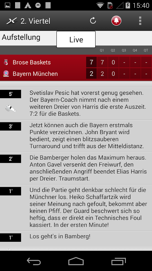 SPOX Sportnews- screenshot
