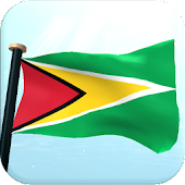 Guyana Flag 3D Free Wallpaper