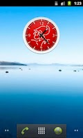 Screenshot of Ajax Clock Widget