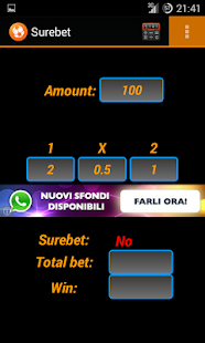 Arbitrage betting - screenshot thumbnail