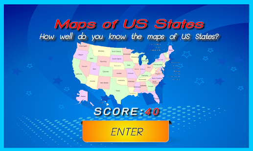 US States Map Quiz For Fun Android Apps On Google Play - Us state map placement quiz