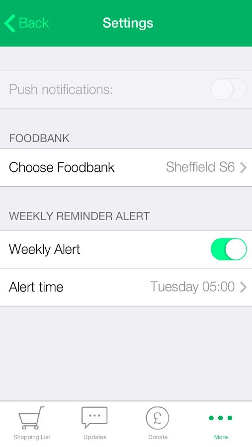 Foodbank- screenshot