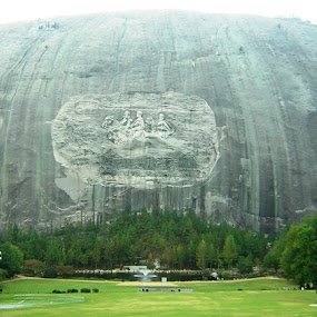 Stone Mountain  by Holly Herrmann - Buildings & Architecture Statues & Monuments ( stone mountain )