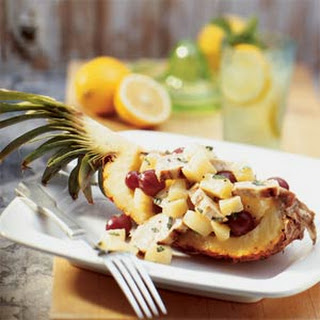 Chicken Salad in Pineapple Boats.