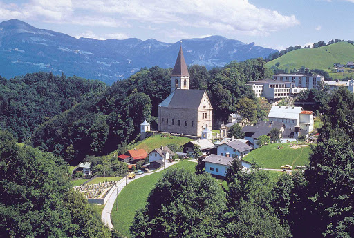 salt-mine-settlement - Picture postcard: Bad Duerrnberg near Hallein Salt Mine settlement in Austria.