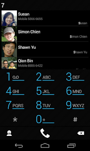 exDialer Black ICS Theme- screenshot thumbnail
