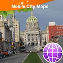 Harrisburg PA Street Map logo