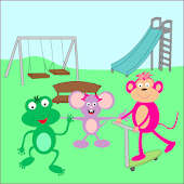 Lara al parco con gli amici