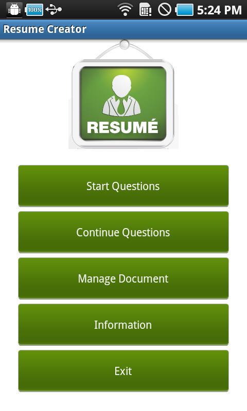 resume creator screenshot