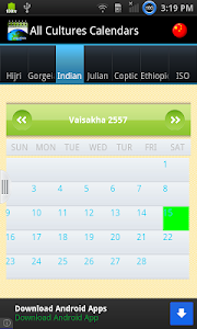 Multi Cultural Calendar screenshot 2