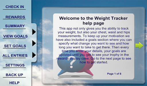 Weight Tracker Tablet Edition