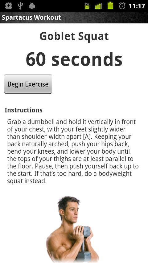 Spartacus Workout (BETA) - screenshot
