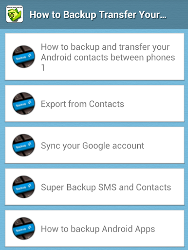 How to Backup Mobile