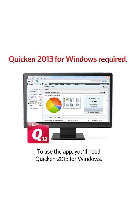 Quicken 2013 Companion - screenshot