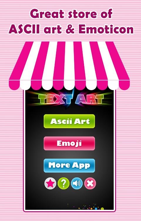 One Line Ascii Art Emoji : Ascii art emoticons android apps on google play