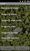 Screenshot of Dragonfly Live Wallpaper