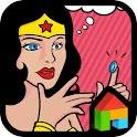 Funny wonder woman dodol theme icon