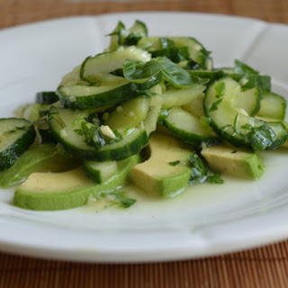 Asian Cucumber, Celery, and Avocado Salad
