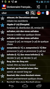 French German Dictionary - screenshot thumbnail