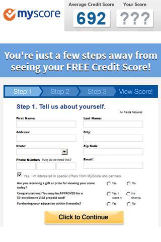 MyScore Free Credit Score App