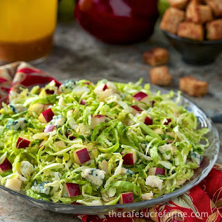 Shaved Brussels Sprouts and Apple Salad with Cider Vinaigrette
