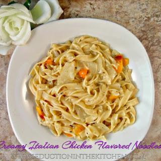 Creamy Italian Chicken Flavored Noodles