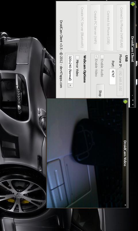 DroidCamX Wireless Webcam Pro - screenshot