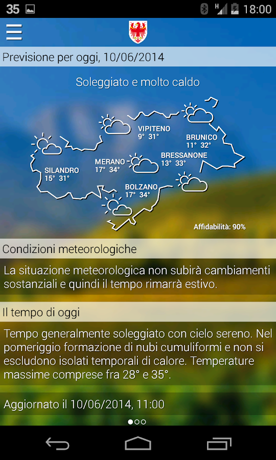 Meteo Alto Adige- screenshot