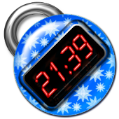 Blue Digital Clock