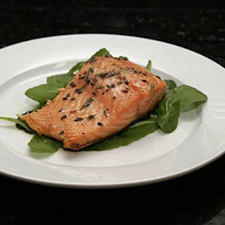 Honey Herb Salmon Fillets with Lavender