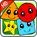 Learn shapes games for kids icon