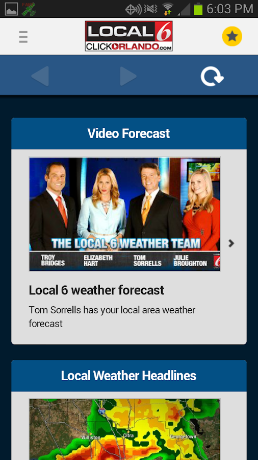 WKMG Local 6 Storm Tracking - screenshot