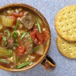 Slow Cooker Beef and Barley Soup.