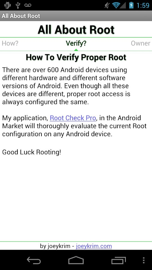 All About Root - screenshot