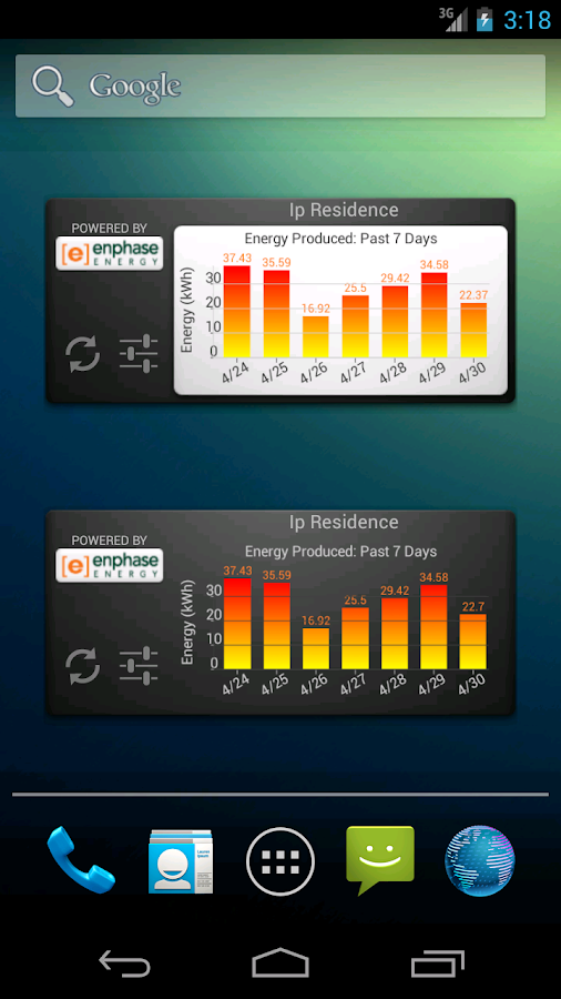 SolarTracker Widget- screenshot