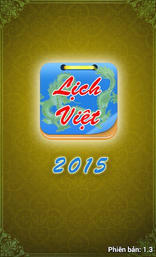Lịch Việt - Lịch Vạn Niên 2015