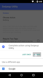 Swipeup Utility Screenshot