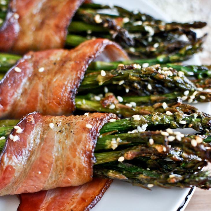 Bacon Wrapped Caramelized Sesame Asparagus Recipe